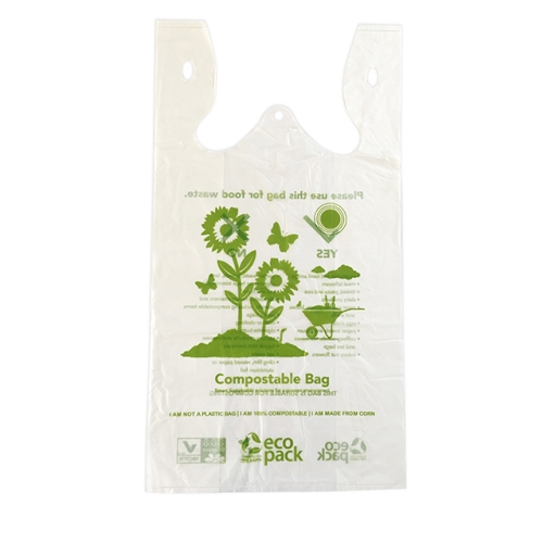 ECOPACK COMPOSTABLE SINGLET BAGS LARGE 100pk