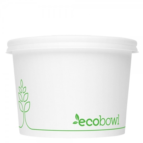 ECOWARE PAPER SOUP BOWL PLA 16oz/473ml 500ctn