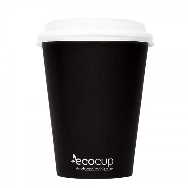 ECOWARE 12oz SINGLE WALL CUP BLACK 1000CTN