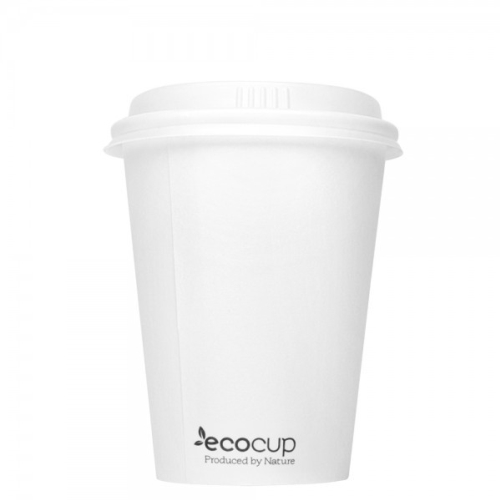 ECOWARE 12oz SINGLE WALL CUP WHITE 1000CTN