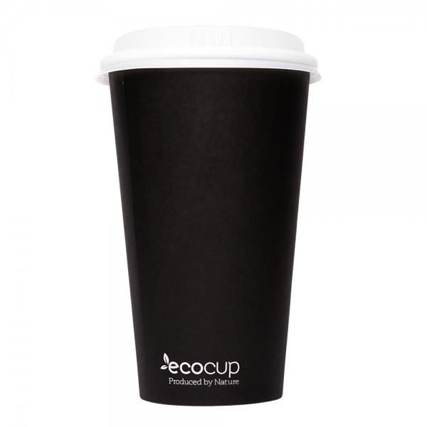 ECOWARE 16oz SINGLE WALL CUP BLACK 1000CTN