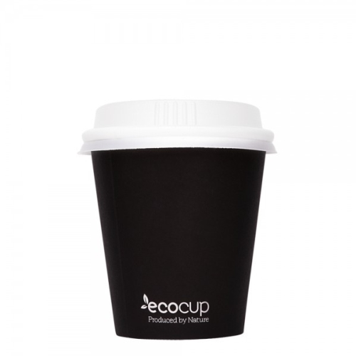 ECOWARE 4oz SINGLE WALLWHITE/GREEN CUP 1000CTN