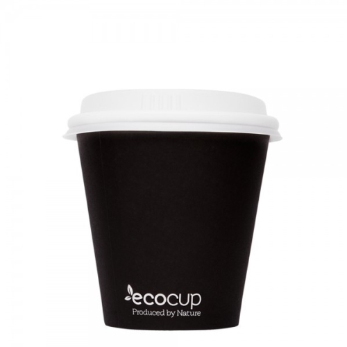 ECOWARE 8oz SINGLE WALL UNI CUP BLACK 1000CTN