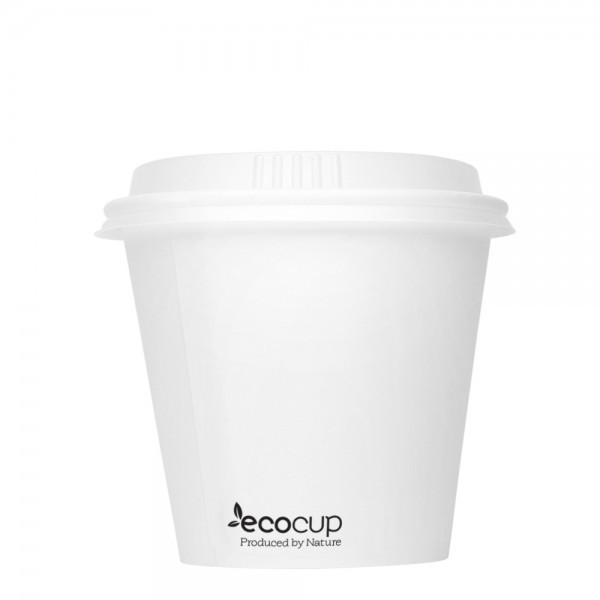 ECOWARE 8oz SINGLE WALL UNI CUP WHITE 1000CTN