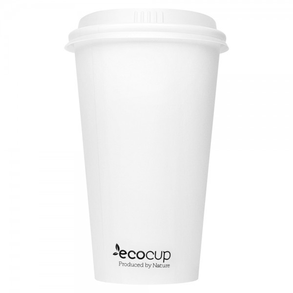 ECOWARE 16oz SINGLE WALL CUP WHITE 1000CTN