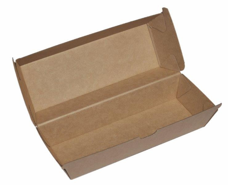 ECOWARE KRAFT HOT DOG BOX 200ctn