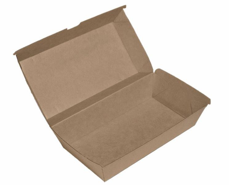 ECOWARE KRAFT SNACK BOX LARGE 200ctn
