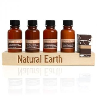 NATURAL EARTH WOODEN DISPLAY STAND