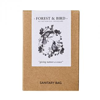 FOREST & BIRD SANITARY BAG  - HUIA DESIGN 250ctn