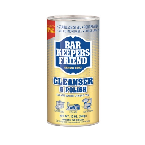 BAR KEEPERS FRIEND CLEANER & POLISH POWDER 340g (GOLD)