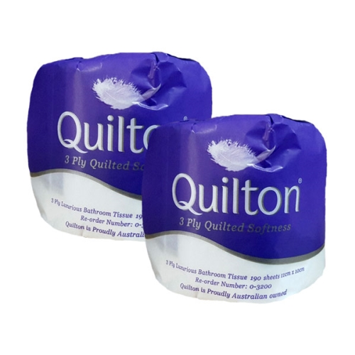 QUILTON LUXURY TOILET TISSUE 3ply 190s x 48rolls