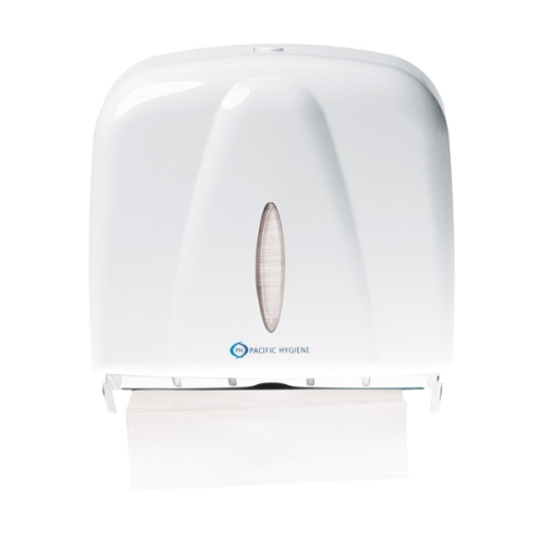 PH D55W SLIMLINE TOWEL DISPENSER MINI WHITE
