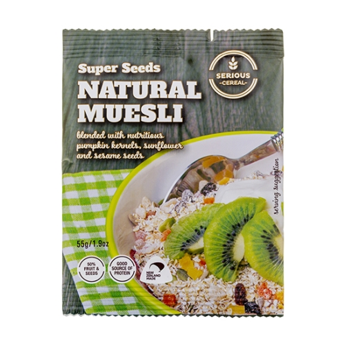 HP SERIOUS SUPER SEEDS NATURAL MUESLI 55g x 48ctn