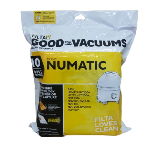 FILTA FLEECE VACUUM BAGS NUMATIC 60092/C014 10pk