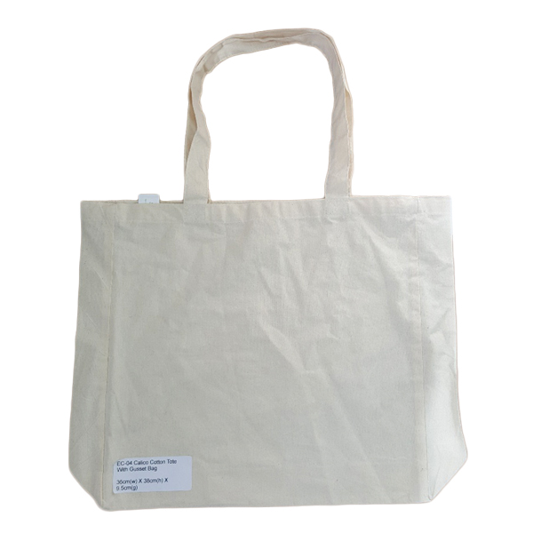 REUSABLE SHOPPING BAG 100% COTTON 36x38x9.5cm