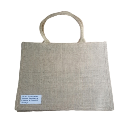 REUSABLE SHOPPING BAG 100% JUTE LARGE 42x32x20cm