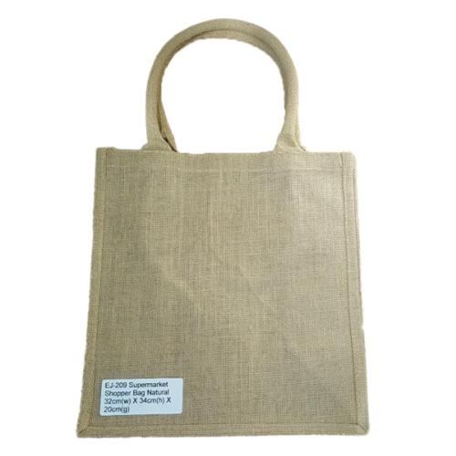REUSABLE SHOPPING BAG 100% JUTE SMALL 32x34x20cm