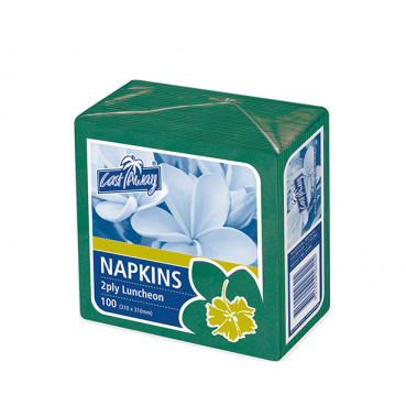 CASTAWAY LUNCHEON 2ply NAPKINS GREEN 100pk