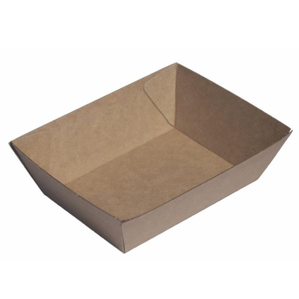 ECOWARE KRAFT FOOD TRAY #1 170x140x50mm 500CTN