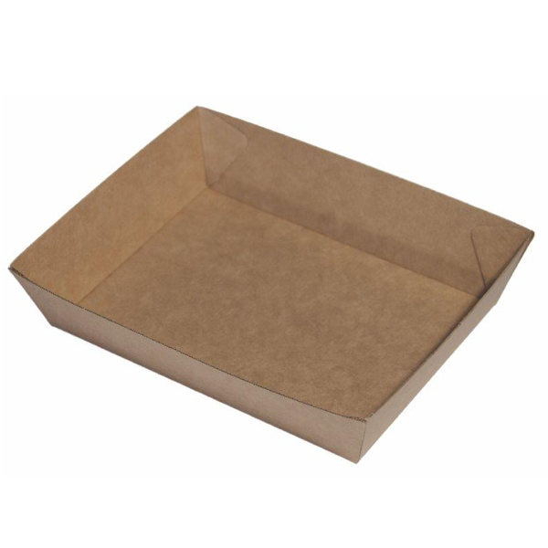 ECOWARE KRAFT FOOD TRAY #3 210x180x50mm 240CTN