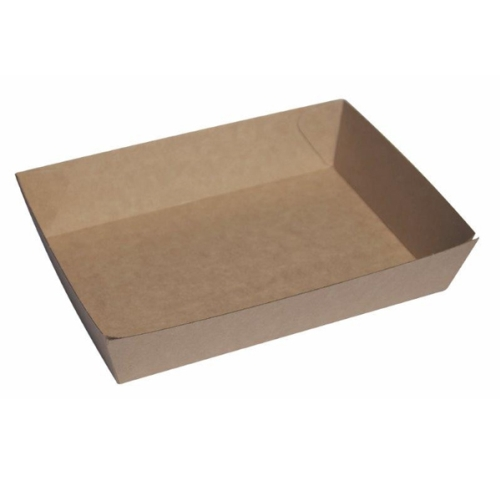 ECOWARE KRAFT FOOD TRAY #4 260x200x50mm 240CTN