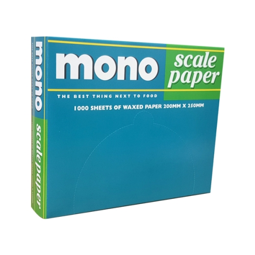 MONO SCALE PAPER WAXED 200x250mm  1000pk