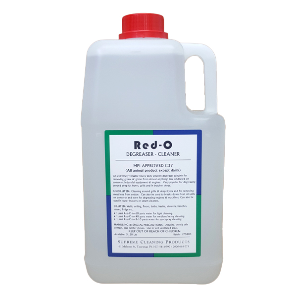 SUPREME RED-O HD DEGREASER 5Ltr