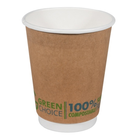 GREEN CHOICE ECOCUP 12oz  DOUBLE WALL 25slv