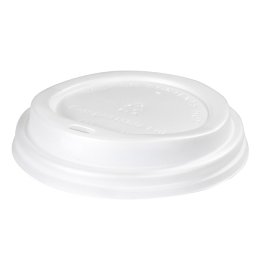 GREEN CHOICE COMPOSTABLE LID 8/12/16oz 90mm 50slv