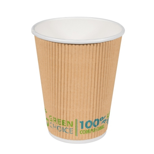 GREEN CHOICE COMPOSTABLE RIPPLE CUP  12oz  25slv
