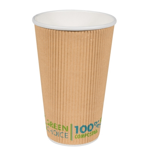 GREEN CHOICE COMPOSTABLE RIPPLE CUP 16oz 25slv