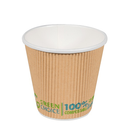 GREEN CHOICE COMPOSTABLE RIPPLE CUP 8oz 25slv