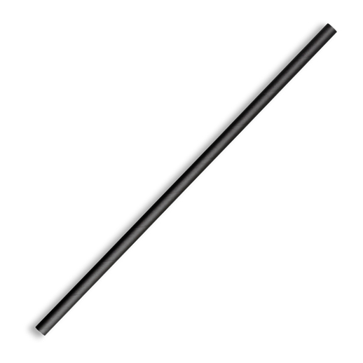 BIOPAK PAPER STRAW STRAIGHT 6mm BLACK 2500CTN