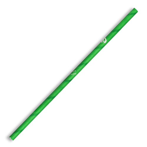 BIOPAK PAPER STRAW STRAIGHT 6mm GREEN 2500CTN