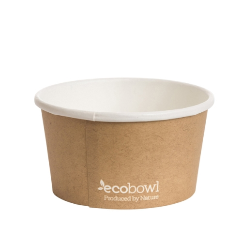 ECOWARE PAPER SOUP BOWL PLA  12oz/355ml 25slv