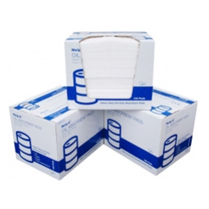 HEAVY SYNTHETIC OIL ABSORBENT PADS WHT 400g X 100bx