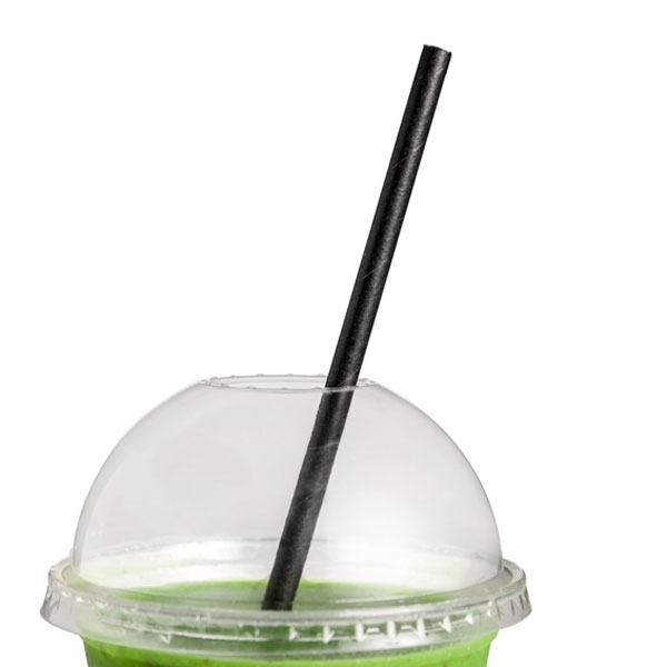 ECOWARE PAPER STRAW 6mm BLACK 2500ctn