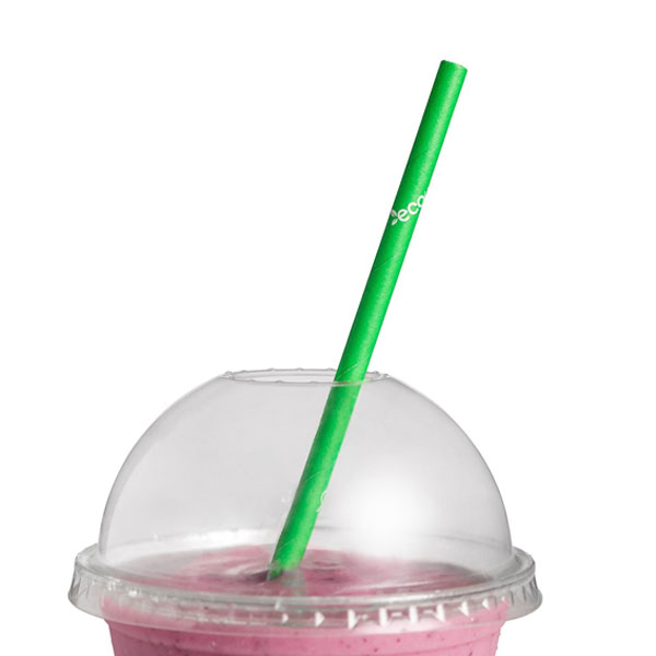 ECOWARE PAPER STRAW 6mm GREEN 2500ctn