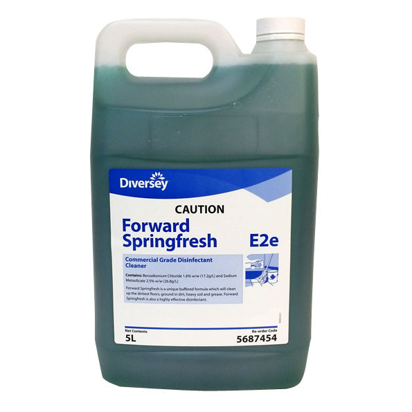 DIVERSEY FORWARD SPRINGFRESH CLNR DISINFNT 5LTR