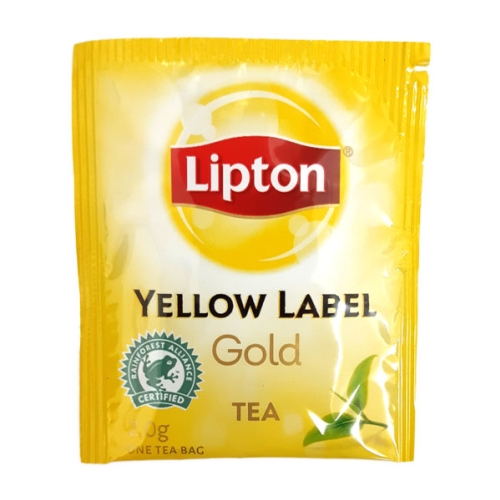 LIPTON YELLOW LABEL GOLD ENVELOPED TEABAGS  500ctn