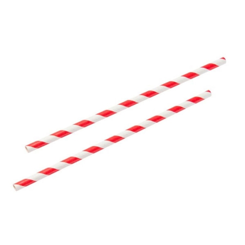 PROFILE PAPER STRAWS  RED STRIPE 250 PACKET