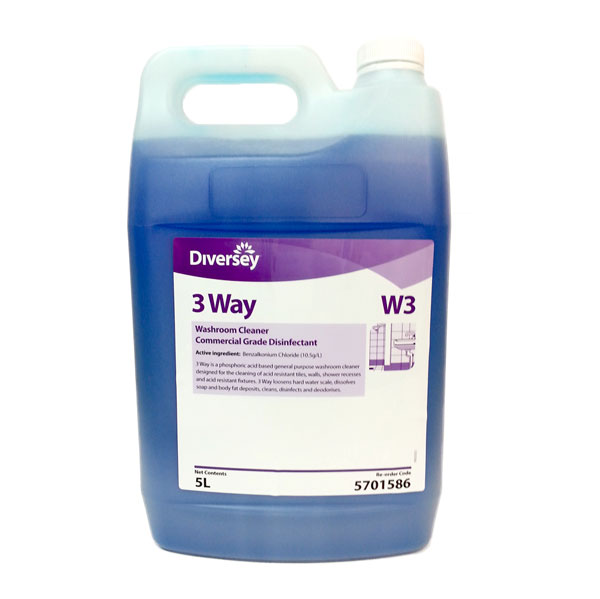 DIVERSEY 3-WAY TOILET & WASHROOM CLEANER 5Ltr