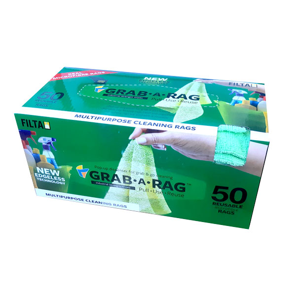 FILTA GRAB-A-RAG MICROFIBRE CLOTHS GREEN 50box