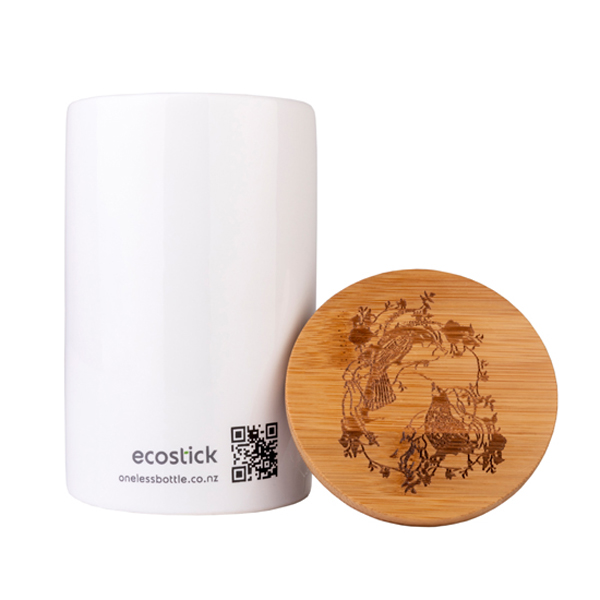 ECOSTICK LARGE CERAMIC CANISTER with LID