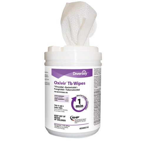 OXIVIR-TB SURFACE SANITISER WIPES SMALL 15x18cm 160/TUB
