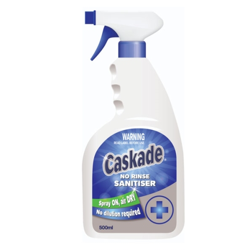 CASKADE NO-RINSE SURFACE SANITISER 500ML