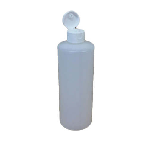 PLASTIC HDPE SQUEEZE BOTTLE 500ml + FLIP LID