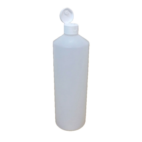 PLASTIC HDPE SQUEEZE BOTTLE 1000ml + FLIP LID
