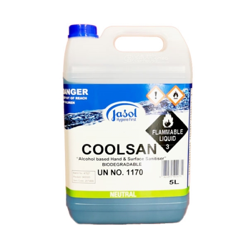 JASOL COOLSAN 70% ALCOHOL SURFACE SANITISER 5L DG