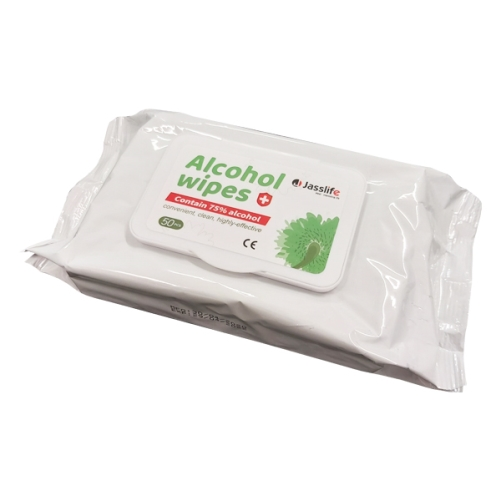 JASSLIFE 75% ALCOHOL WIPES 50pack